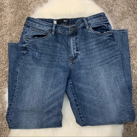 Kut from the Kloth Denim - KUT Reese Jeans High Rise Ankle Straight Leg 10